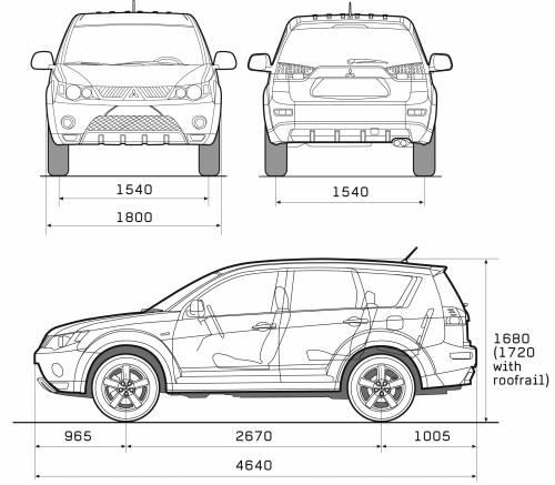 2008 mitsubishi outlander interior dimensions www Mitsubishi outlander interior dimensions