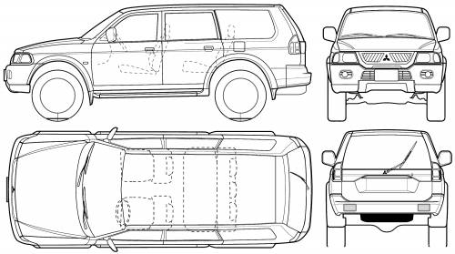 Mitsubishi Pajero Sport (2005) Original image dimensions: 2000 x 1118px