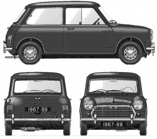 Morris Mini Mk.II Super Deluxe 1000cc 1967-69