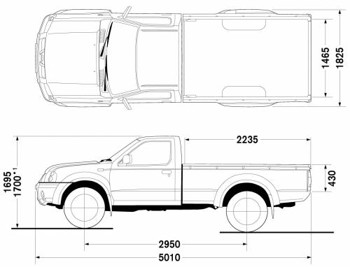 Nissan Navara Dimensions Bed Roole