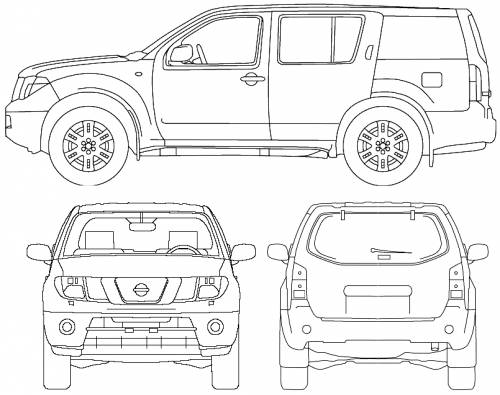 nissan pathfinder dimensional drawing