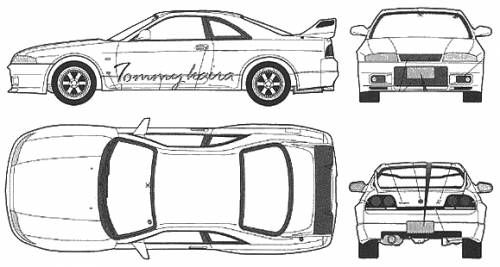 nissan r33 gtr coloring pages - photo#11