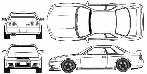 skyline gtr r33. Nissan Skyline Gtr R33 V Spec.