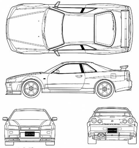 Nissan Skyline R34 GT-R V-Spec Original image dimensions: 587 x 621px