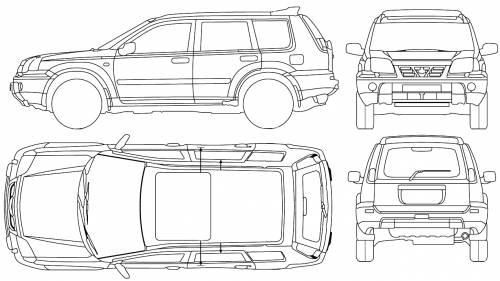blueprints cars nissan nissan x trail 2005. Black Bedroom Furniture Sets. Home Design Ideas