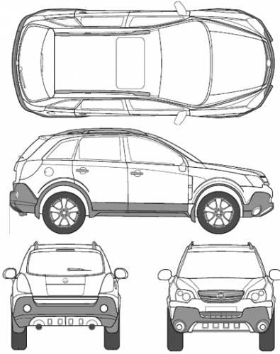 Чертёж (схема) авто Opel авто Antara.