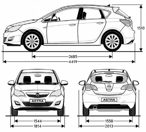 the blueprints cars opel opel astra 2010. Black Bedroom Furniture Sets. Home Design Ideas