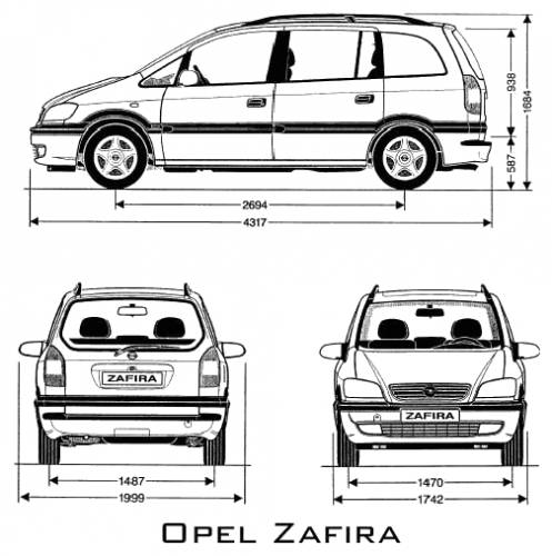 the blueprints cars opel opel zafira. Black Bedroom Furniture Sets. Home Design Ideas