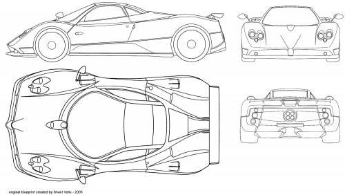 Blueprints > Cars > Pagani > Pagani Zonda C12