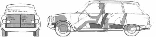 Peugeot 204D Break (1968)