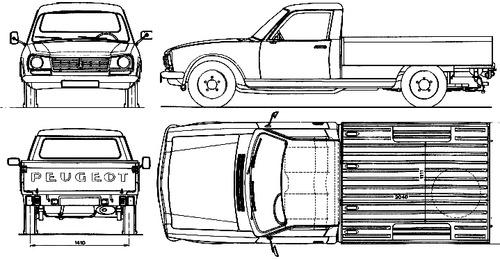 Vector Requests Peugeot 504 Pick Up 1980