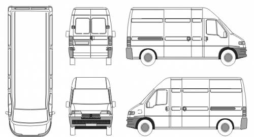 The-Blueprints.com - Blueprints > Cars > Peugeot > Peugeot Boxer