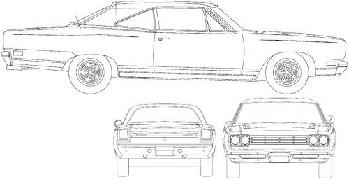 blueprints  u0026gt  cars  u0026gt  plymouth  u0026gt  plymouth road runner  1968