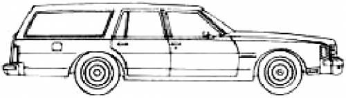Blueprints cars pontiac pontiac bonneville station for Wagon coloring pages