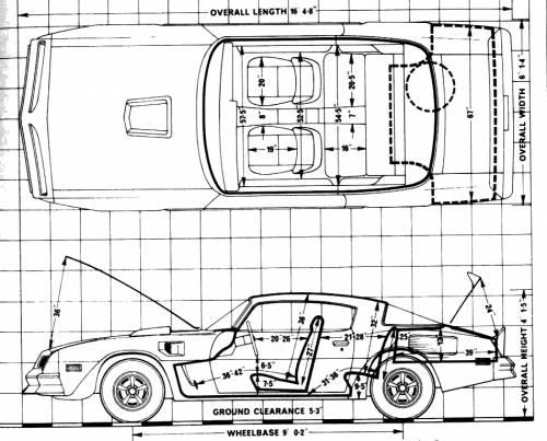 blueprints  u0026gt  cars  u0026gt  pontiac  u0026gt  pontiac firebird trans am 6 6  1977