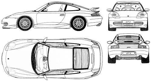 the blueprints cars porsche porsche 911 gt3 996. Black Bedroom Furniture Sets. Home Design Ideas