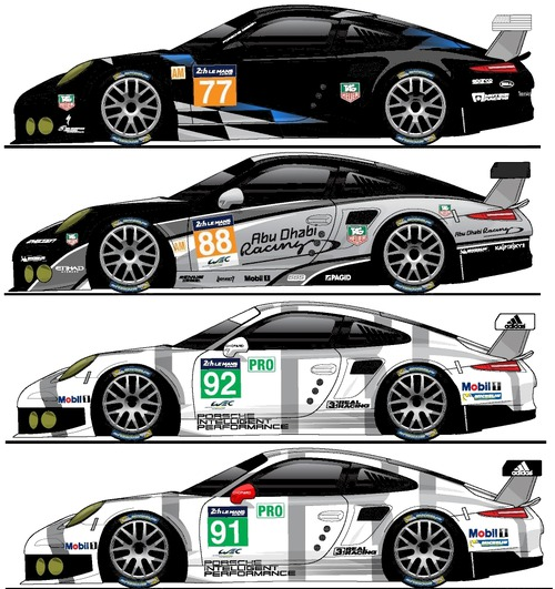 Blueprints Cars Porsche Porsche 911 Rsr 991 Le Mans 2014