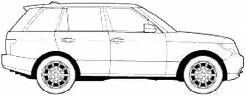 how to draw a range rover easy