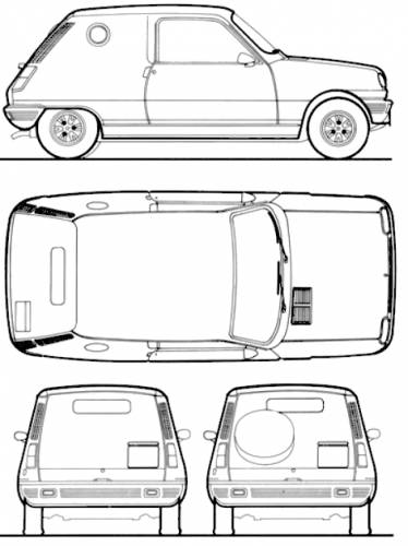 blueprints  u0026gt  cars  u0026gt  renault  u0026gt  renault 5 le car van