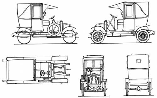 renault ag taxi de la marne  1914