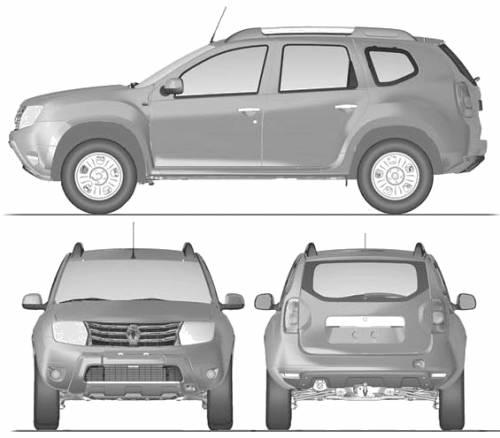 blueprints cars renault renault duster 2012. Black Bedroom Furniture Sets. Home Design Ideas