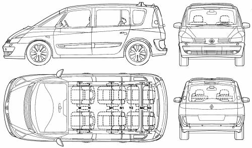 the blueprints cars renault renault espace 2006. Black Bedroom Furniture Sets. Home Design Ideas