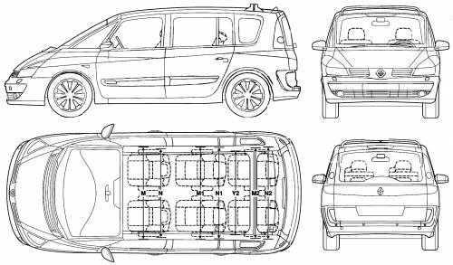 blueprints  u0026gt  cars  u0026gt  renault  u0026gt  renault espace  2006