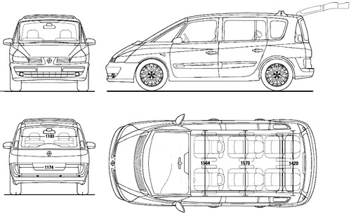 blueprints cars renault renault espace iv 2013. Black Bedroom Furniture Sets. Home Design Ideas