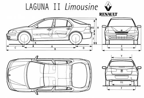 the blueprints cars renault renault laguna. Black Bedroom Furniture Sets. Home Design Ideas