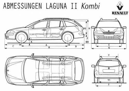 the blueprints cars renault renault laguna combi. Black Bedroom Furniture Sets. Home Design Ideas