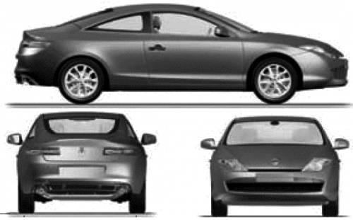 the blueprints cars renault renault laguna iii coupe 2008. Black Bedroom Furniture Sets. Home Design Ideas
