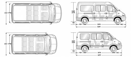 renault master minibus dimensions galleria di automobili. Black Bedroom Furniture Sets. Home Design Ideas