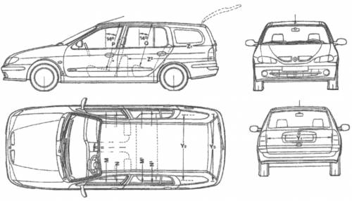 dimension megane 2  the blueprints cars renault renault