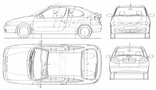 dimension megane 2  the blueprints cars renault renault megane ii 5 door 2007  megane dimensions