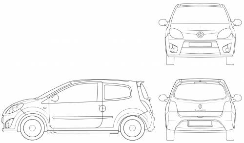 the blueprints cars renault renault twingo ii 2007. Black Bedroom Furniture Sets. Home Design Ideas