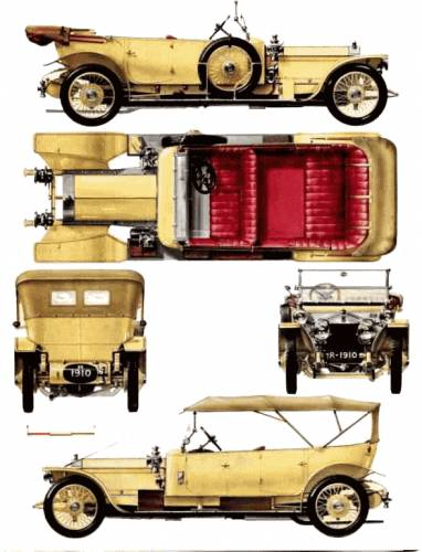 Blueprints cars rolls royce rolls royce silver ghost barker rolls royce silver ghost barker torpedo tourer 1910 malvernweather Image collections