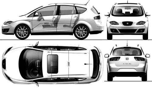 The blueprints coches seat seat - Dimensiones seat ...