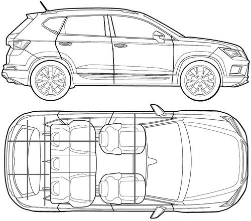 Blueprints cars seat seat ateca 2017 seat ateca 2017 malvernweather Images
