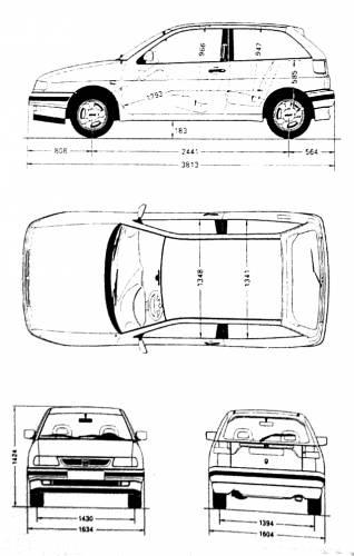 the blueprints cars seat seat ibiza 6k. Black Bedroom Furniture Sets. Home Design Ideas