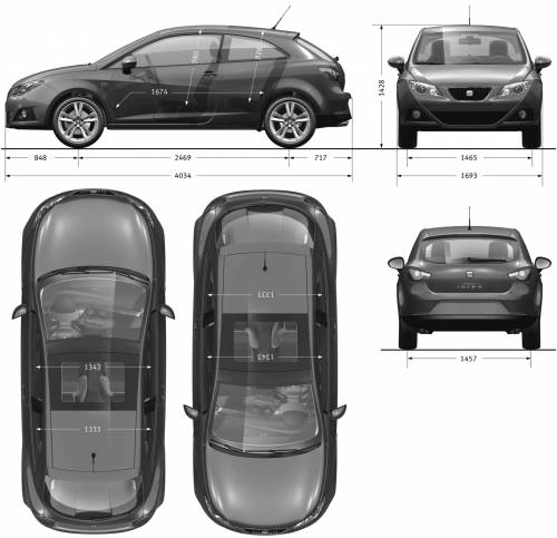 blueprints cars seat seat ibiza sc 2009. Black Bedroom Furniture Sets. Home Design Ideas