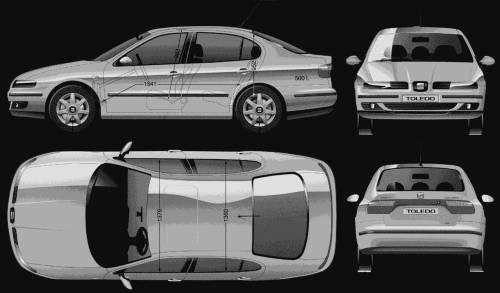 TheBlueprintscom  Blueprints  Cars  SEAT  Seat Toledo