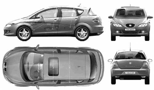 TheBlueprintscom  Blueprints  Cars  SEAT  Seat Toledo 2005