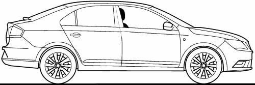 TheBlueprintscom  Blueprints  Cars  SEAT  Seat Toledo 2013