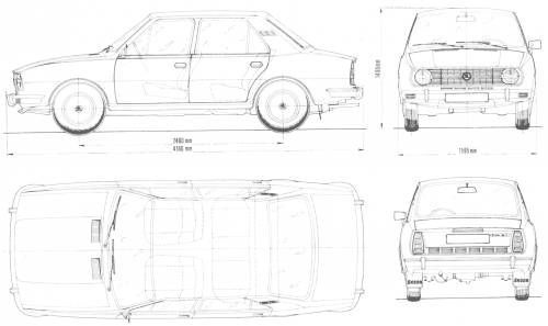 Basic low poly car model tutorial therefore mean more time consumption for modelling so i chose a simple vehicle a skoda 105 i found references of the car at the blueprints malvernweather Images
