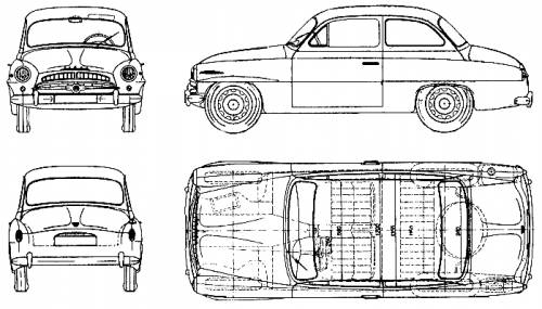 The-Blueprints.com - Blueprints > Cars > Skoda > Skoda 440 (1958)