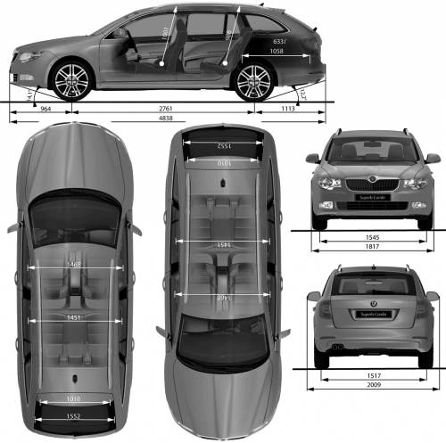 the blueprints cars skoda skoda superb combi 2009. Black Bedroom Furniture Sets. Home Design Ideas