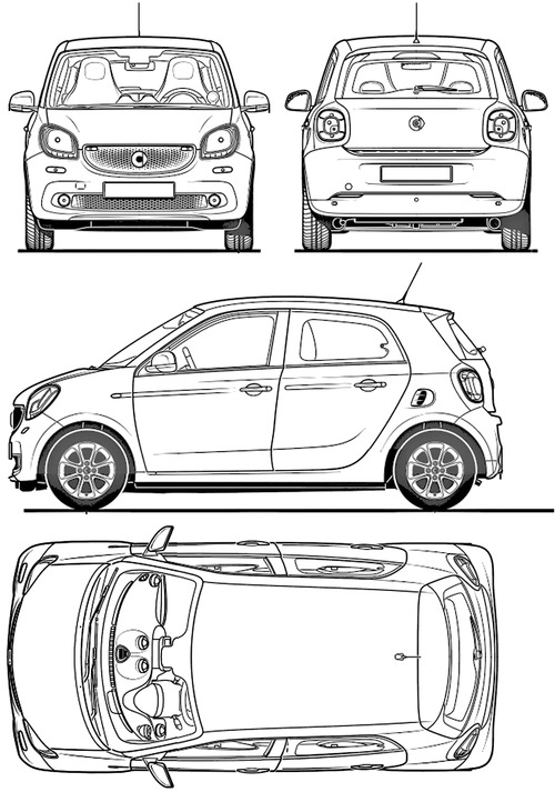 the blueprints cars smart smart forfour 2014. Black Bedroom Furniture Sets. Home Design Ideas