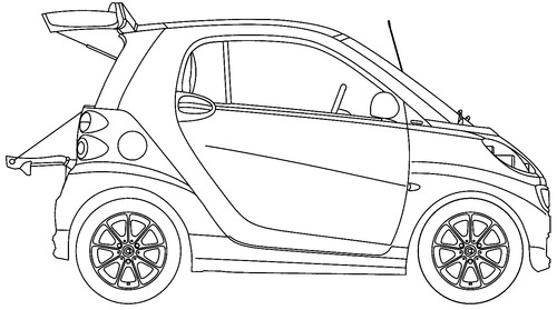 Blueprints cars smart smart fortwo 2014 smart fortwo 2014 malvernweather Image collections