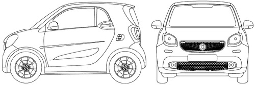 Blueprints cars smart smart fortwo 2016 smart fortwo 2016 malvernweather Image collections