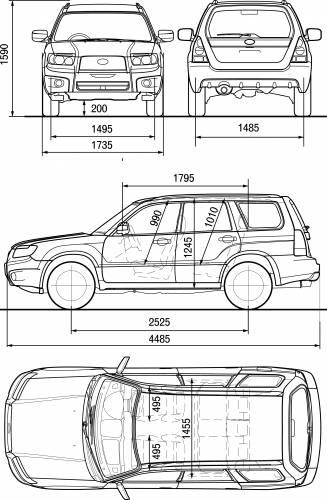 Blueprints Cars Subaru Subaru Forester